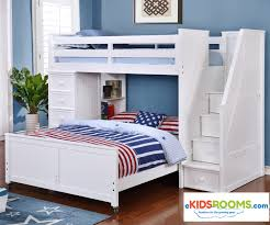 Allen House Furniture Multifunction Loft Bed in White Finish