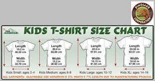 Child T Shirt Size Chart By Age Baby Elephant Youth T Shirt