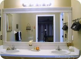 bathroom crown molding. Bathroom Mirror Framed With Crown Molding, Ideas, Home Decor, Molding