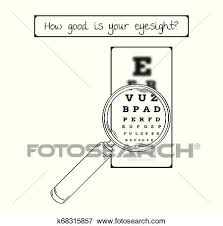 Blurry Eye Test Chart Snellen Chart For Eye Test Sharp And Blurred Clip Art