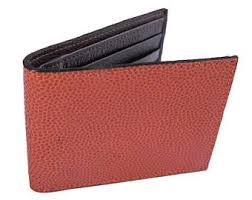 Genuine Basketball Leather Sports Wallet - Great Gift Idea for Player, Coach,  Son, Husband, or Fan for Birthday, Christmas, or Father s Day