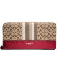 ... COACH Legacy Signature Stripe Accordion Wallet Lyst ...