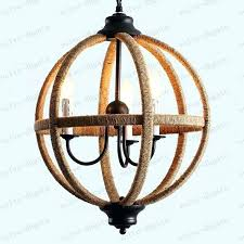 chandeliers wood iron chandelier rustic globe country restaurant lights retro traditional rope round glob wood iron