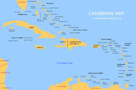 caribbean map  free map of the caribbean islands