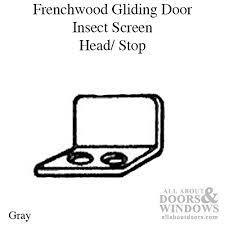 andersen window frenchwood gliding door insect screen bracket head stop gray