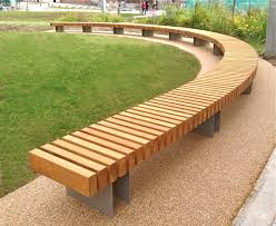 Clifton Curved Seat: Woodscape Street Furniture.