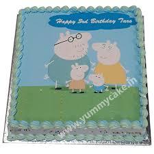 Peppa Pig Birthday Cake Online Free Home Delivery Yummycake