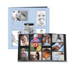 baby collage frame pioneer 12 x 12 album 240 4x6 inch photo pockets embossed sewn