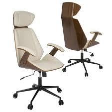 amazing furniture modern beige wooden office. lumisource spectre midcentury modern walnut wood office chair in cream beige offwhite amazing furniture wooden