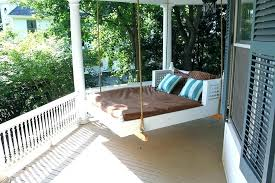 porch swing bed outdoor swinging beds ideas to enjoy floating in mid diy daybed diy porch swing bed