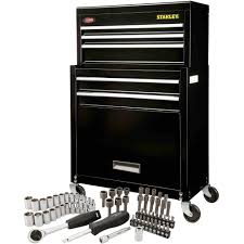 stanley tool box with wheels. stanley rolling tool chest with bonus 68-piece mechanic set - walmart.com box wheels