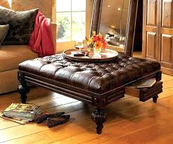 black leather ottoman coffee table leather square ottoman leather top ottoman coffee table elegant oxford tufted
