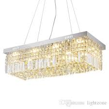 modern dimmable crystal ceiling chandeliers lamps rectangular led ceiling chandelier lights high end ceiling lightings for dinning room small chandeliers