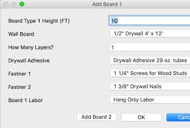drywall estimating drywall cost