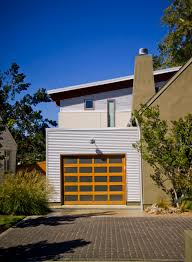 garage door with entry doorExterior Design Modern Garage Doors With Balcony Also Outdoor