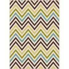 gct1022 5x8 5 x 7 medium chevron multi colored indoor outdoor rug garden