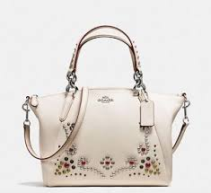 Image is loading Coach-Small-Kelsey-Crossbody-Satchel-Bag-in-Stud-