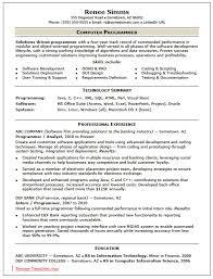 sample computer programmer resume computer programmer resume examples examples of resumes