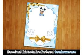 Free Mickey Mouse Template Download Free Printable Mickey Mouse Baby Shower Invitations