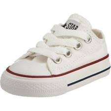 converse baby shoes. converse chuck taylor all star ox toddler chucks baby shoes trainers white - 7j256c eur 23 (us 7) y