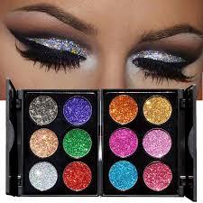 handaiyan eye makeup metallic shimmer eyeshadow palette silver purple rose red diamond gold glitter eyeshadow powder