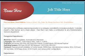 Experienced Software Engineers Resume Format Dotxes