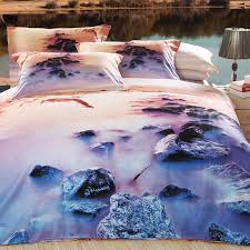 tropical sunset comforter set blue purple and brown dolphins print holiday ocean scene 4