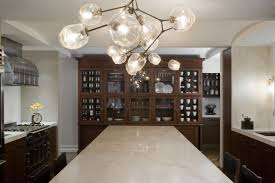 glass orb chandelier