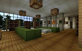 minecraft modern living room rendering of home interior modern house