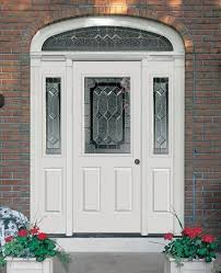 albany door model 39 with model 220 sidelight with majestic glass