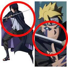 Is it me or does Boruto have sasuke's sword AND cape, did sasuke die?:  Boruto