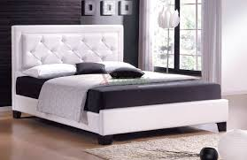 upholstered platform bed furniture with tufted headboard   xiorex