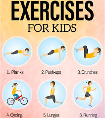 Free Hand Workout Chart 15 Simple Exercises For Kids To Do At Home