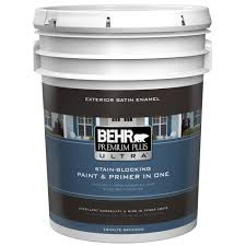Behr Premium Plus Ultra 5 Gal Ultra Pure White Satin Enamel