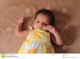 New Born Asian Baby Girl In Cute Dress Stock Image Image Of