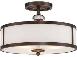 minka lavery thorndale dark noble bronze 15 wide three light semi flush