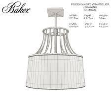 baker dressmakers chandelier bbs21 barbara barry 3d model max obj mtl fbx unitypackage prefab pdf 2