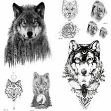 купить оптом юран 3d лесной волк временные татуировки мужчины геометрические