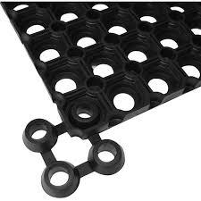 <b>Mat Connectors 10</b> pcs Rubber Black -
