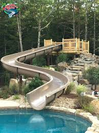 in ground pool slides outdoor stylish pool slides for pools applied to your home above ground