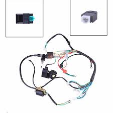 complete electrics all wiring harness wire stator for atv quad complete electrics all wiring harness wire stator for atv quad 50cc 110cc 125cc 2 2 of 8