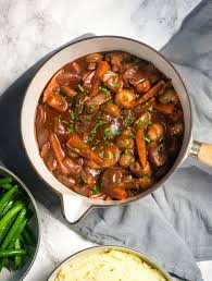 To turn them into something a little more. Chestnut Mushroom Bourguignon In A Rich Red Wine Gravy The Veg Space