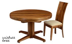 african walnut round table