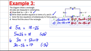 engaging gcse maths revision solving simultaneous equations in context algebra full size