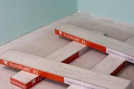 acclimatising laminate floor