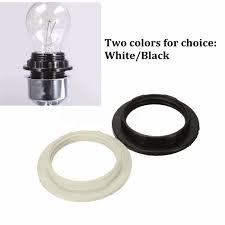black white e27 lampshade light shade collar ring adaptor lamp bulb holder