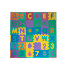 com foam floor alphabet and number puzzle mat for kids 96 piece toys