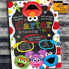 Elmo 1st Birthday Party Invitations Elmo Invitation Elmo Birthday