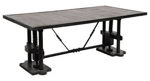 Image Vintage Madera Industrial Dining Table Zin Home Madera Industrial Dining Table Zin Home