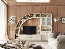 Living Room Buffet Cabinet Living Room Wall Units Combine With Bookshelves Natural Johansen